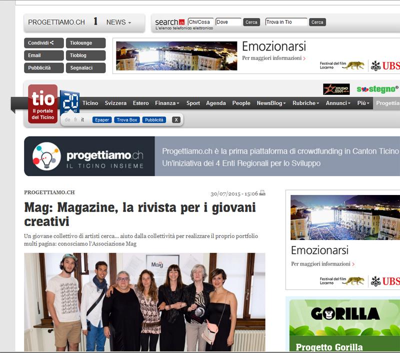 Nuovo articolo su Tio : il portale del Ticino