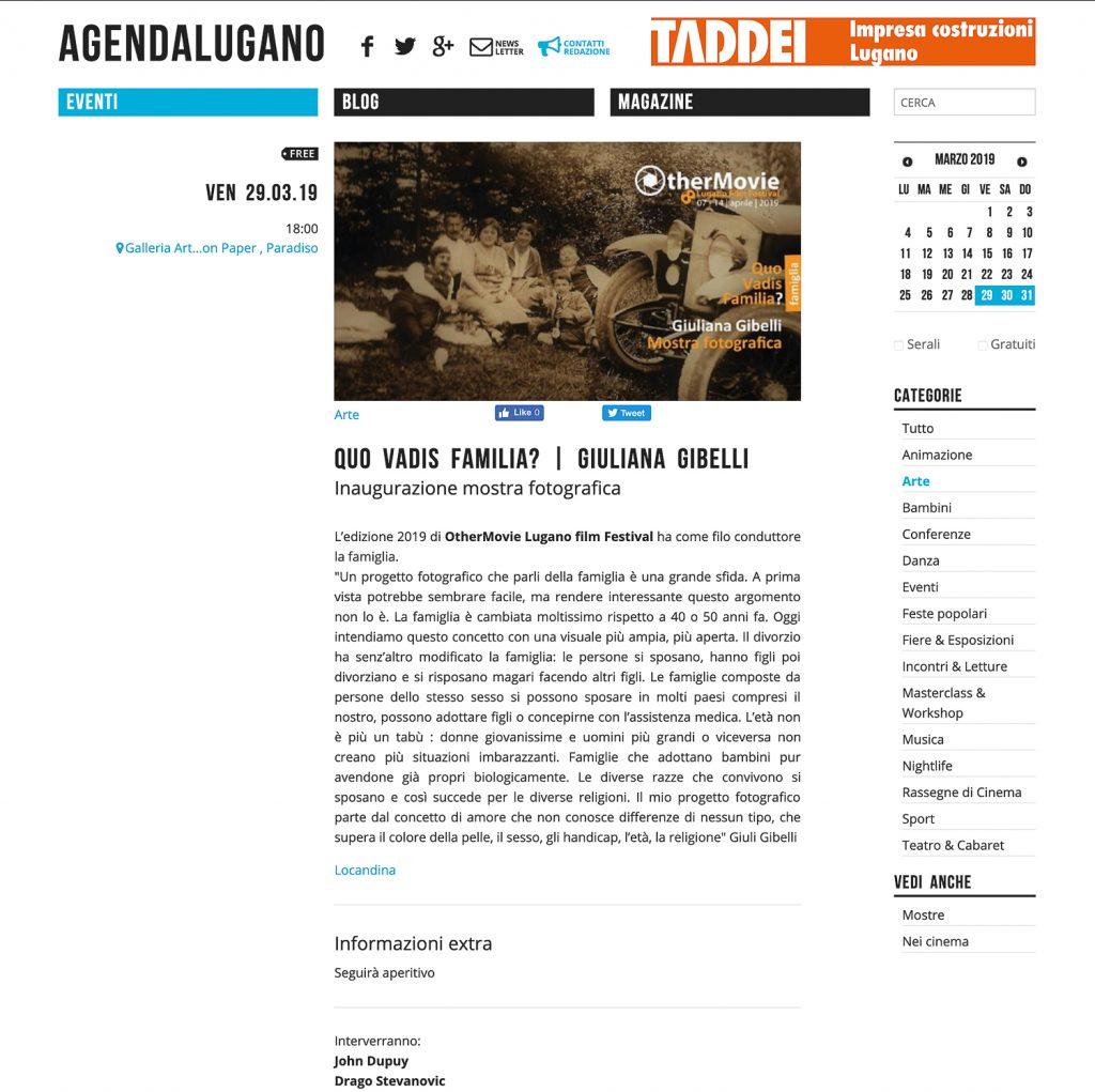 Agenda Lugano 29 marzo 2019
