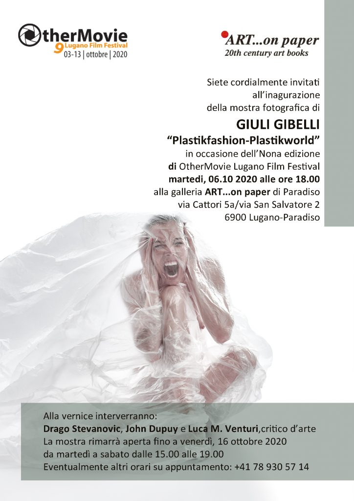 "Mostra personale con OtherMovie Lugano Film Festival. ""Plastic fashion-Plastic world"""