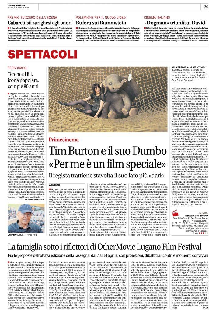 Corriere del Ticino 29 marzo 2019